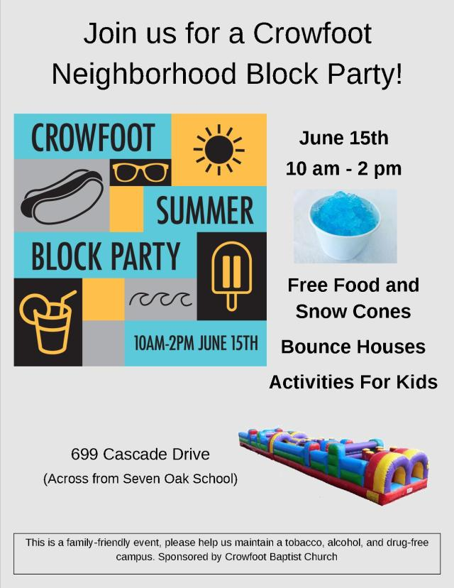 Block Party Full page Flyer