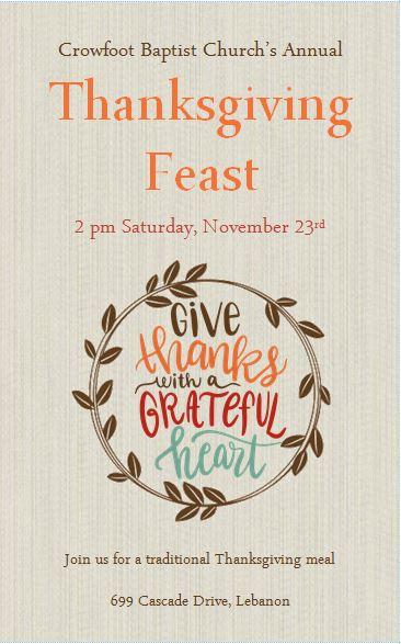 Thanksgiving Feast 2019